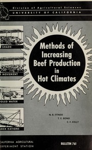 Cover of: Methods of increasing beef production in hot climates | Nicholas Rood Ittner