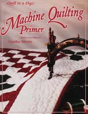 Cover of: Machine quilting primer