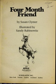 Cover of: Four Month Friend
