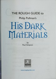 Cover of: The rough guide to Philip Pullman's His dark materials