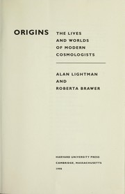 Cover of: Origins | Alan Lightman, Roberta Brawer