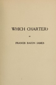 Cover of: Which charter?