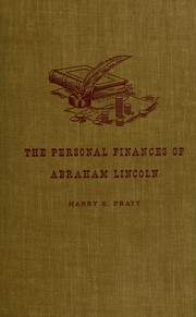 Cover of: The personal finances of Abraham Lincoln