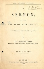 Cover of: False and true theology
