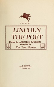 Cover of: Lincoln the poet