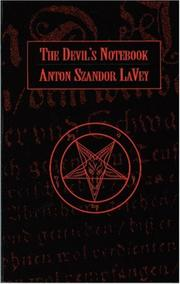 Cover of: The devil's notebook by Anton Szandor LaVey