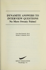 Cover of: Dynamite answers to interview questions