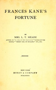 Cover of: Frances Kane's fortune