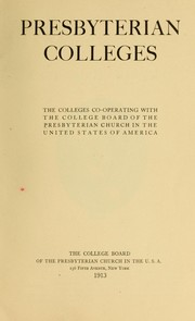 Cover of: Presbyterian colleges | Presbyterian Church in the U.S.A. College Board.