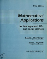 Cover of: Mathematical applications for management, life, and social sciences