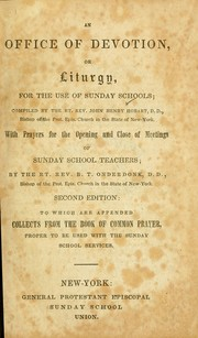 Cover of: An office of devotion, or, Liturgy for the use of Sunday Schools ...