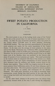 Cover of: Sweet potato production in California