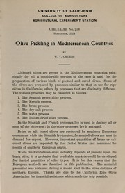 Cover of: Olive pickling in Mediterranean countries