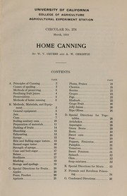 Cover of: Home canning