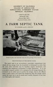 Cover of: A farm septic tank | William B. Herms