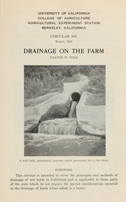 Cover of: Drainage on the farm