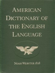 Cover of: American dictionary of the English language