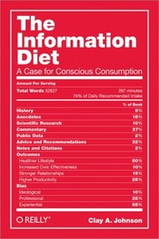 Cover of: The Information Diet by