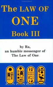 Cover of: The Law of One, Book Three  | Don Elkins