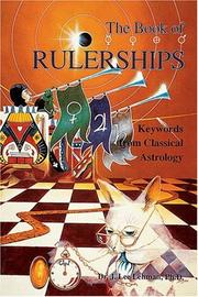 Cover of: The Book of Rulerships