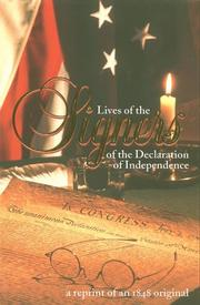 Cover of: Lives of the Signers of the Declaration of Independence