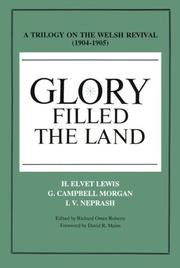 Cover of: Glory filled the land