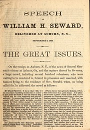 Cover of: The great issues
