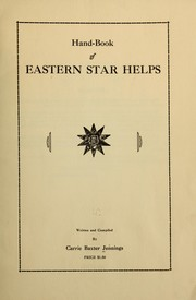 Cover of: Hand-book of Eastern star helps | Carrie Baxter Jennings