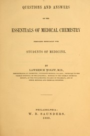 Cover of: Questions and answers on the essentials of medical chemistry