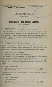 Cover of: Insecticides and insect control | H. J. Quayle