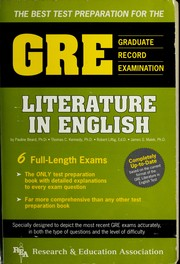 Cover of: The Best Test Preparation for the Gre | Pauline Beard