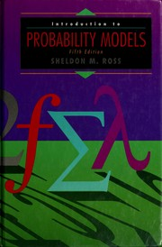 Cover of: Introduction to probability models | Sheldon M. Ross
