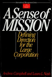 Cover of: A sense of mission