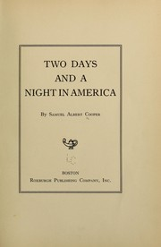 Cover of: Two days and a night America