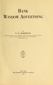 Cover of: Bank window advertising | William Russell Morehouse