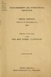 Cover of: Official catalogue of the fine arts exhibit, illustrated