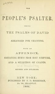Cover of: The People's psalter