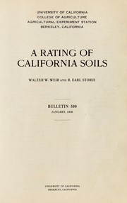 Cover of: A rating of California soils