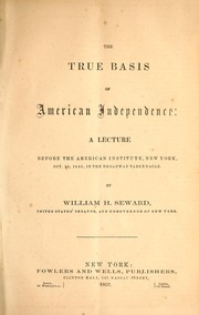 Cover of: The true basis of American independence