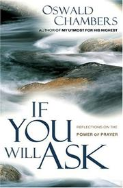 Cover of: If You Will Ask