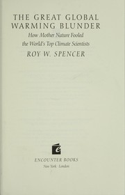 The great global warming blunder