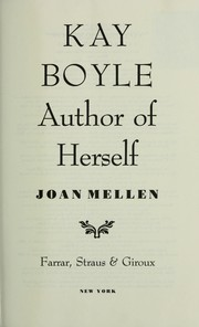 Cover of: Kay Boyle | Joan Mellen