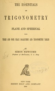 Cover of: The essentials of trigonometry