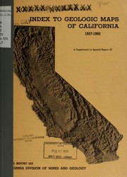 Cover of: Index to geologic maps of California, 1957-1960. | James B. Koenig