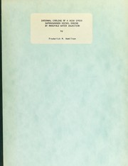 Cover of: Internal cooling of a high speed supercharged diesel engine by manifold water injection | Frederick M. Hamilton
