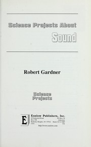 Cover of: Science projects about sound