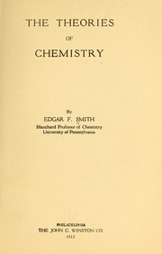 Cover of: The theories of chemistry