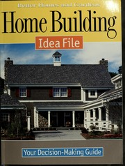 Cover of: Home building idea file |