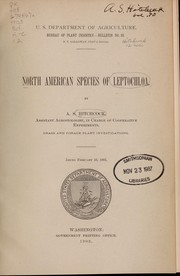 Cover of: North American species of Leptochloa