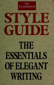 Cover of: Economist Style Guide
